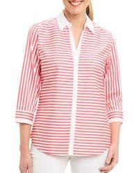 Foxcroft - Striped Cotton Shirt - Lyst
