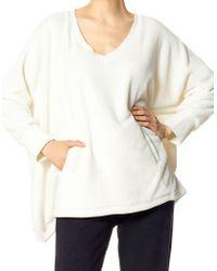 Hue - Long-sleeve V-neck Poncho - Lyst