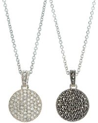Judith Jack - Crystal And Marcasite Pendant Necklace - Lyst