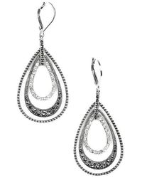 Judith Jack - Sterling Silver And Crystal Layered Drop Earrings - Lyst