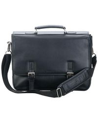 Kenneth Cole Reaction - Leather Flap Portfolio Briefcase - Lyst