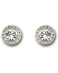 Swarovski - Faceted Crystal Bezel Earrings - Lyst
