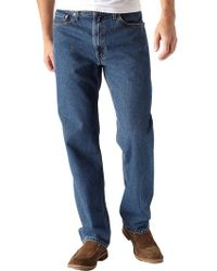 Levi's - 550 Relaxed Fit Dark Stonewash Jeans - Lyst