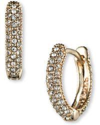 Judith Jack - Swarovski Crystal And Sterling Silver Hoop Earrings - Lyst