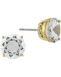Cole Haan - Cubic Zirconia Round Stud Filigree Earrings - Lyst