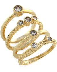Cole Haan - Cubic Zirconia Spiral Ring - Lyst