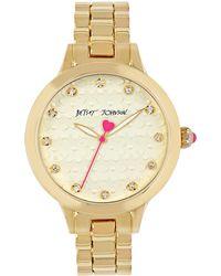 Betsey Johnson - Flower And Sparkle Bracelet Watch - Lyst