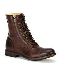 Frye - Tyler Double-zip Leather Boots - Lyst