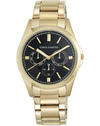 Vince Camuto - Goldtone Stainless Steel Chronograph, Vc-1084bkgp - Lyst
