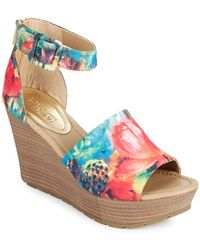 Kenneth Cole Reaction - Sole Quest Natural Wedge Sandals - Lyst