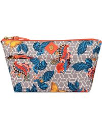 Anne Klein - Butterfly Floral Print Cosmetic Carryall - Lyst