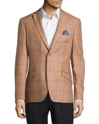 Tallia Orange - Wool Windowpane Sportcoat - Lyst