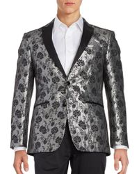 Tallia Orange - Contrast Floral Sportcoat - Lyst