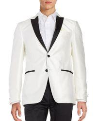 Tallia Orange - Tonal Diamond Weave Sportcoat - Lyst