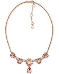 Marchesa - Rose Goldtone Pendant Necklace - Lyst