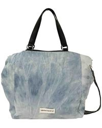 Sanctuary - Downtown Washed Denim And Vegan Leather Tote - Lyst
