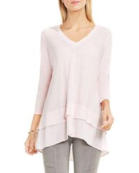 Two By Vince Camuto - Layered V-neck Jumper - Lyst