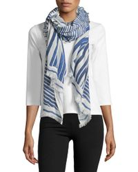 NIC+ZOE - Poolside Palm Lines Scarf - Lyst