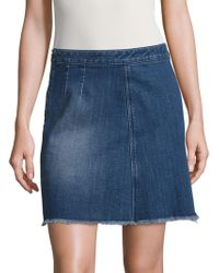 Two By Vince Camuto - Mock-wrap Denim Skirt - Lyst