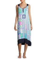 Ellen Tracy - Sleeveless Printed Dress - Lyst