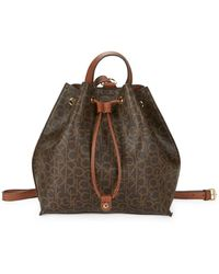CALVIN KLEIN 205W39NYC - Faux Leather Monogram Backpack - Lyst