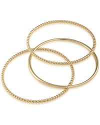 Lauren by Ralph Lauren - Perfect Pieces Twisted And Smooth Three-piece Bangles - Lyst
