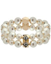 Anne Klein - Stretch Faux Pearl Bracelet - Lyst