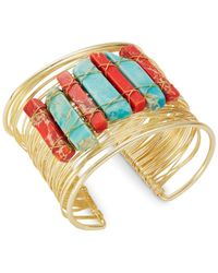 Panacea - Multi-colored Natural Stones Band Bracelet - Lyst