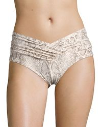 Carmen Marc Valvo - Wild Story V-draped Bikini Bottom - Lyst