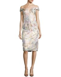 Barbara Tfank - Floral Off-the-shoulder Dress - Lyst