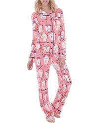 Munki Munki - Jersey Chinese Takeout Classic Pyjama Set - Lyst