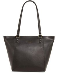 Vera Bradley - Ella Small Pebbled Leather Tote - Lyst
