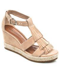 Bernardo - Kaya Suede Wedge Sandals - Lyst