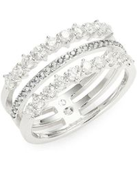 Nadri - Tiered Pave Ring - Lyst