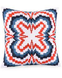 Trina Turk - Ikat Zigzag Decorative Pillow - Lyst
