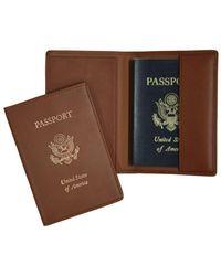 Royce - Handcrafted Rfid Blocking Passport Travel Organizer - Lyst