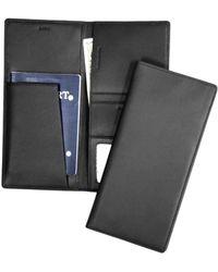 Royce - Rfid Blocking Leather Passport Ticket Organizer - Lyst