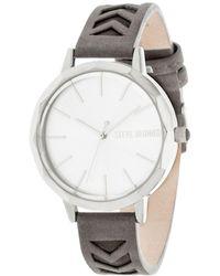 Steve Madden - Arrow Leather Watch - Lyst