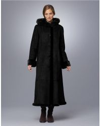 Gallery - Petite Sueded Faux Fur-trimmed Coat - Lyst