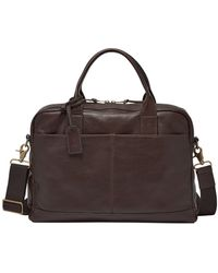 Fossil - Defender Wyatt Leather Workbag - Lyst