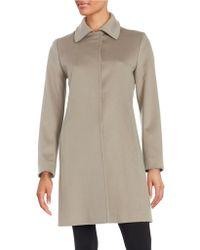 Fleurette - Wool Button-front Coat - Lyst
