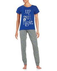 Sleeptease - Patterned Tee And Pants Pajama Set - Lyst