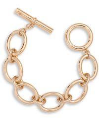 Lauren by Ralph Lauren - 12k Goldplated Brass Oval Link Bracelet - Lyst
