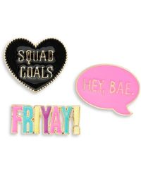 Lord & Taylor - Words Pins Set - Lyst