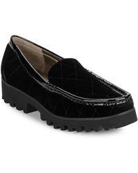 Donald J Pliner - Roko2 Quilted Velvet Loafers - Lyst