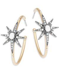 Nanette Lepore - Star Open Hoop Earrings - Lyst