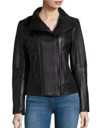 Vince Camuto - Ribbed Moto Jacket - Lyst