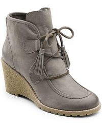 G.H.BASS - Teresa Leather Ankle Boots - Lyst