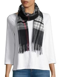 Lord & Taylor - Plaid Cashmere Scarf - Lyst