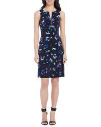 Ellen Tracy - Zip Front Knit Dress - Lyst